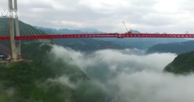 Dizzying timelapse shows clouds move beneath the world's tallest bridge
