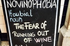 This Dublin cellar bar's chalkboards speak to every wine lover