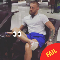 Conor McGregor got a fierce slagging over this photo of him using a flip phone