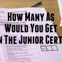 How Many As Would You Get in the Junior Cert?