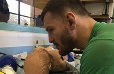 Just over 48 hours after defending his UFC title, Stipe Miocic was back at work as a paramedic