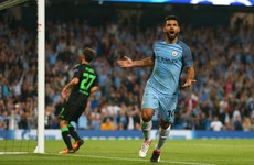 Aguero hat-trick helps Man City make light work of Borussia Moenchengladbach