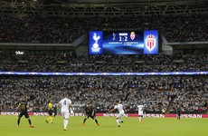 Spurs lose out to Monaco in front of record 85,000 at Wembley