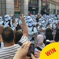 Dublin was invaded by a bunch of dancing stormtroopers yesterday