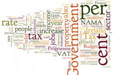 Here's Michael Noonan's Budget 2012 speech… as a word cloud