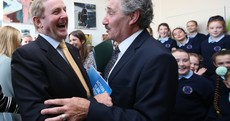 It was all smiles as Enda Kenny and John Halligan shared a stage together today