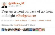 Sinn Féin TD tweets Budget 2012 measures before they're announced