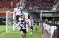 Late Kilduff header earns 10-man Dundalk first-ever point on Europa League group stage debut