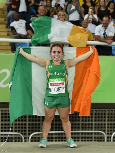 Niamh McCarthy wins Ireland's second Paralympic medal of the day