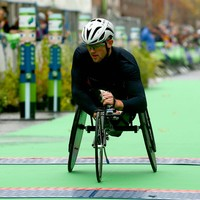 Paralympic Breakfast: Patrick Monahan competes in the marathon as the Games come to an end