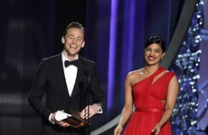Tom Hiddleston was openly flirting with another woman at the Emmys... It's The Dredge