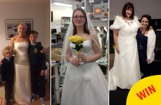 Women across Ireland are wearing their wedding dresses to work today for a lovely reason
