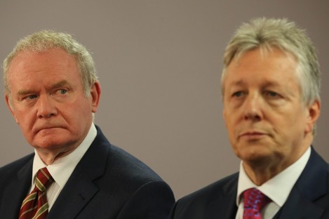 Martin McGuinness and Peter Robinson in 2014.