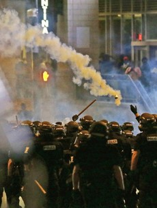 State of emergency as police fire tear gas in second night of violent protests in Charlotte