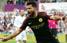Goal machine Aguero at the double as Guardiola maintains perfect start