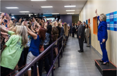 This crowd's selfie with Hillary Clinton has everyone weeping for modern society
