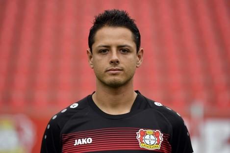Bayer Leverkusen striker Javier Hernandez.