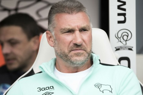 Derby County manager Nigel Pearson.