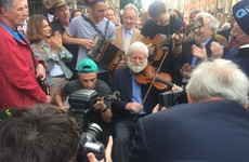 Musicians hold sing-song outside Leinster House in bid to get more radio play