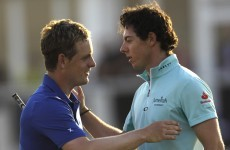 Rory turns up the heat on Luke Donald