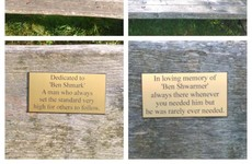 These puntastic bench signs in Marlay Park are a true Dublin treasure