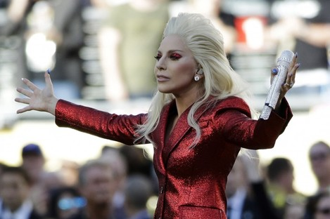Gaga: performed the national anthem at Super Bowl 50.
