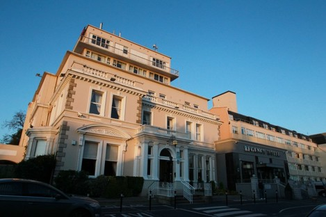 The Regency Hotel in Dublin that's used partly to house homeless families.