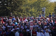 Americans take three-point lead at Ryder Cup with Europe facing huge challenge