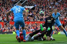 A tale of two goalkeepers: De Gea error gifts Stoke a snatch-and-grab point at Old Trafford