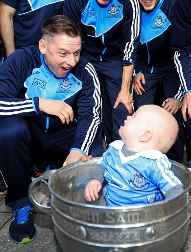 The Dubs visited Temple Street and Crumlin this morning - but not everyone was smiling