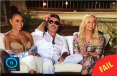 Loads of people thought they saw Simon Cowell's mickey on The X Factor last night