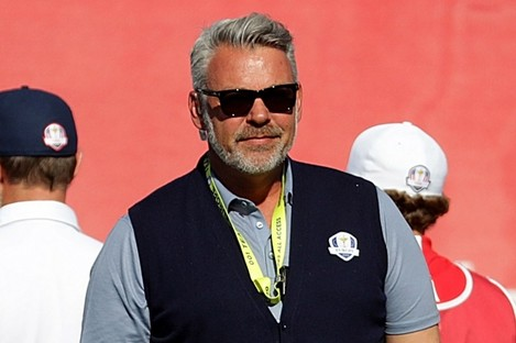 Europe's captain Darren Clarke at the Ryder Cup on Sunday