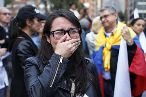 A yes voter in tears after yesterday's referendum result.