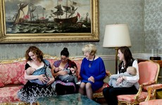 Sabina Higgins invites 200 mothers and babies to a breastfeeding morning at the Áras