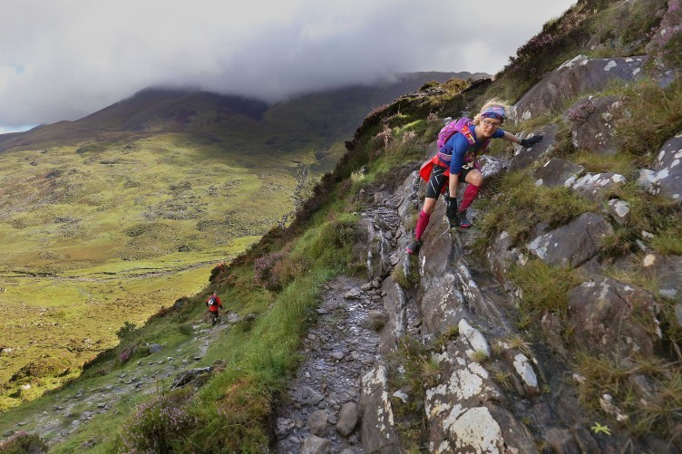 A climber on the Kerry Way.