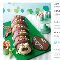 Did you know there's a giant Colin the Caterpillar that feeds 40 people?