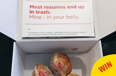 This genius hid his CV in a box of doughnuts so it would actually get seen