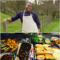 Selasi from GBBO hosts weekly viewing parties for his pals, and the food is mouthwatering