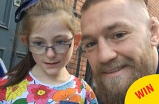 Conor McGregor posted this sound selfie for a little girl who forgot her phone