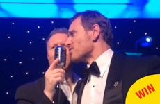 Michael Fassbender belted out an absolute tune on stage in Killarney last night