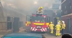 Four fire brigade units respond to blaze in Dublin city centre
