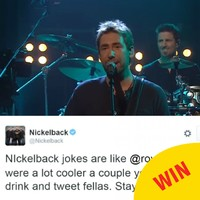 Nickelback absolutely burned this British band with a single tweet