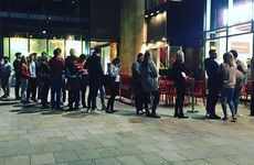 The queues outside Five Guys in Dundrum are still absolutely massive