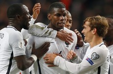 A stunning Paul Pogba strike earned France a big victory over Netherlands tonight