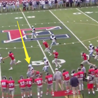 This 16-year-old female kicker made a perfect hit to end a powerful punt return