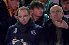 Martin O'Neill watches on as Daryl Horgan scores this brilliant individual goal