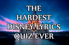 The Hardest Disney Lyrics Quiz Ever