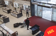 Spare a thought for this shopper who accidentally smashed 4 TVs in just 5 seconds