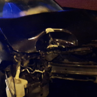 Drink driver arrested after car crashed into traffic lights