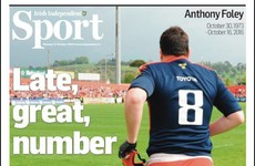 Fitting tributes to Anthony Foley dominate the sports pages